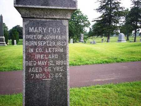 FOX KAIN, MARY - Clinton County, Iowa | MARY FOX KAIN