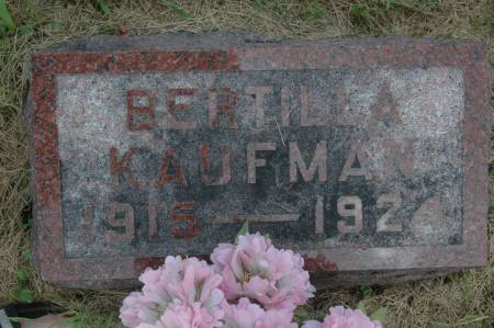 KAUFMAN, BERTILLA - Clinton County, Iowa | BERTILLA KAUFMAN