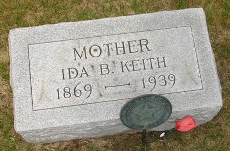 KEITH, IDA B. - Clinton County, Iowa | IDA B. KEITH