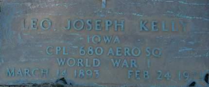 KELLY, LEO JOSEPH - Clinton County, Iowa | LEO JOSEPH KELLY