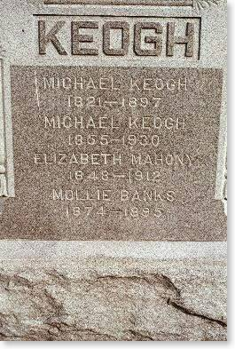 KEOGH-MAHONY-BANKS, MICHAEL, MICHAEL, ELIZABETH & MOLLIE - Clinton County, Iowa | MICHAEL, MICHAEL, ELIZABETH & MOLLIE KEOGH-MAHONY-BANKS
