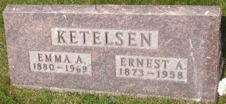 KETELSEN, EMMA A. - Clinton County, Iowa   EMMA A. KETELSEN