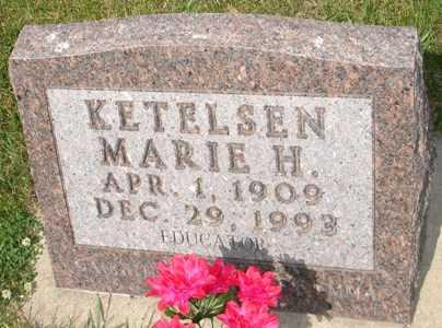 KETELSEN, MARIE H. - Clinton County, Iowa   MARIE H. KETELSEN
