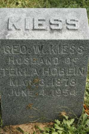 KIESS, GEORGE W. - Clinton County, Iowa | GEORGE W. KIESS