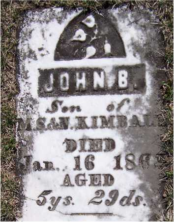 KIMBALL, JOHN B. - Clinton County, Iowa | JOHN B. KIMBALL