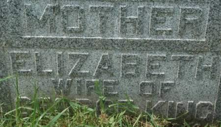 KING, ELIZABETH - Clinton County, Iowa | ELIZABETH KING