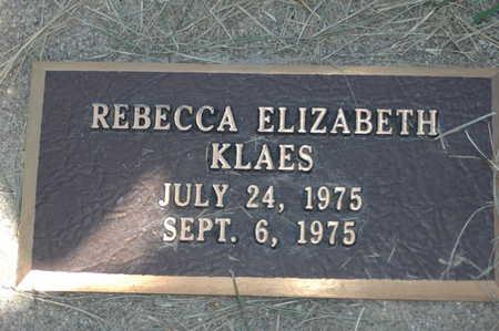 KLAES, REBECCA ELIZABETH - Clinton County, Iowa | REBECCA ELIZABETH KLAES