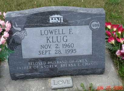 KLUG, LOWELL F. - Clinton County, Iowa | LOWELL F. KLUG