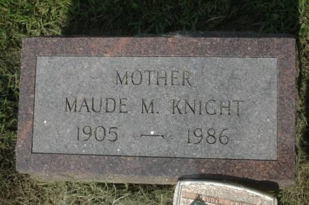 KNIGHT, MAUDE M. - Clinton County, Iowa | MAUDE M. KNIGHT