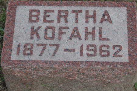 KOFAHL, BERTHA - Clinton County, Iowa | BERTHA KOFAHL
