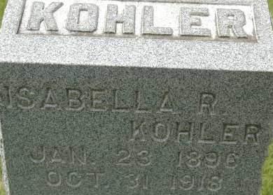 KOHLER, ISABELLA R. - Clinton County, Iowa | ISABELLA R. KOHLER