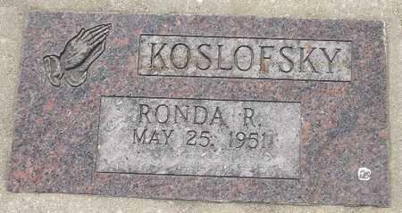 KOSLOFSKY, RONDA R. - Clinton County, Iowa | RONDA R. KOSLOFSKY