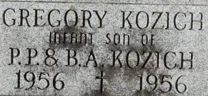 KOZICH, GREGORY - Clinton County, Iowa | GREGORY KOZICH