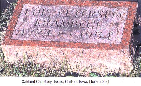 PETERSEN KRAMBECK, LOIS - Clinton County, Iowa | LOIS PETERSEN KRAMBECK