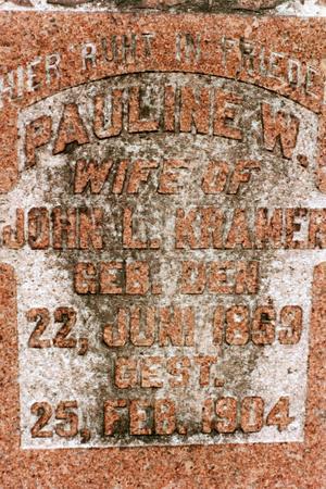 KRAMER, PAULINE W. - Clinton County, Iowa | PAULINE W. KRAMER