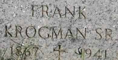 KROGMAN, FRANK SR. - Clinton County, Iowa   FRANK SR. KROGMAN