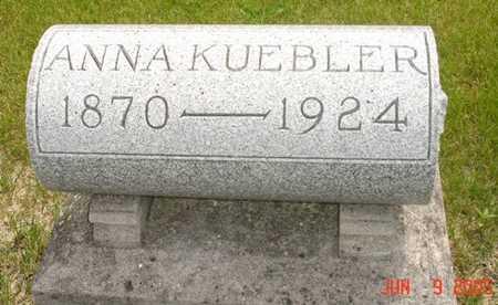 KUEBLER, ANNA - Clinton County, Iowa   ANNA KUEBLER