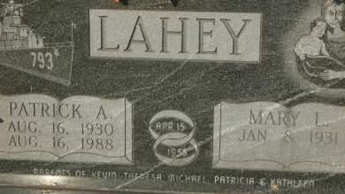 LAHEY, PATRICK A. - Clinton County, Iowa | PATRICK A. LAHEY