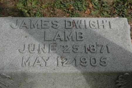 LAMB, JAMES DWIGHT - Clinton County, Iowa | JAMES DWIGHT LAMB