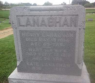 LANAGHAN, MARY - Clinton County, Iowa | MARY LANAGHAN