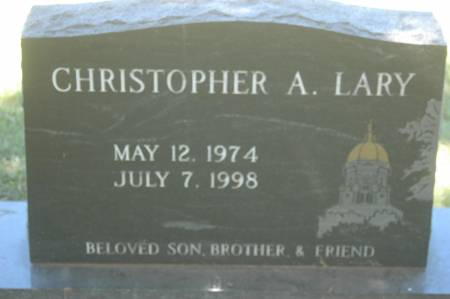 LARY, CHRISTOPHER A. - Clinton County, Iowa   CHRISTOPHER A. LARY