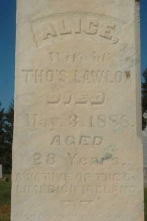 LAWLOR, ALICE - Clinton County, Iowa   ALICE LAWLOR