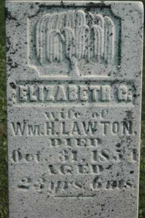 LAWTON, ELIZABETH G. - Clinton County, Iowa   ELIZABETH G. LAWTON