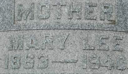 LEE, MARY - Clinton County, Iowa | MARY LEE