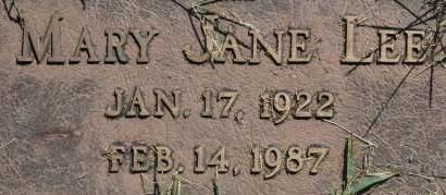 LEE, MARY JANE - Clinton County, Iowa | MARY JANE LEE