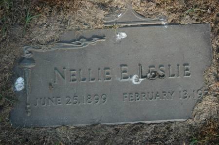 LESLIE, NELLIE E. - Clinton County, Iowa | NELLIE E. LESLIE