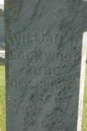 LOCKWOOD, WILLIAM H. - Clinton County, Iowa   WILLIAM H. LOCKWOOD