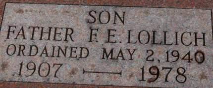 LOLLICH, FATHER F.E. - Clinton County, Iowa | FATHER F.E. LOLLICH