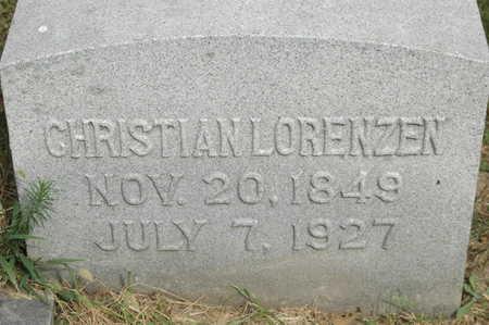 LORENZEN, CHRISTIAN - Clinton County, Iowa   CHRISTIAN LORENZEN