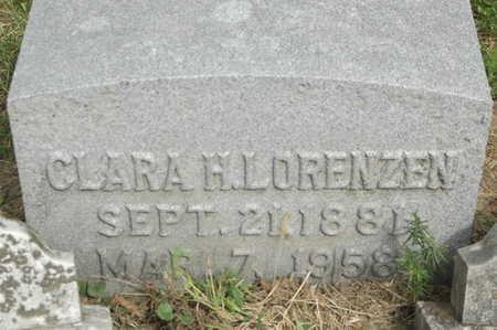 LORENZEN, CLARA H. - Clinton County, Iowa | CLARA H. LORENZEN