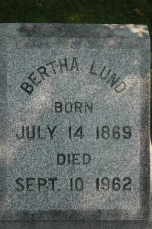 LUND, BERTHA - Clinton County, Iowa   BERTHA LUND