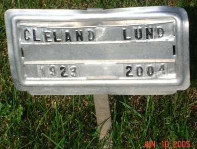 LUND, CLELAND - Clinton County, Iowa   CLELAND LUND