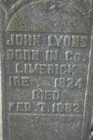 LYONS, JOHN - Clinton County, Iowa   JOHN LYONS