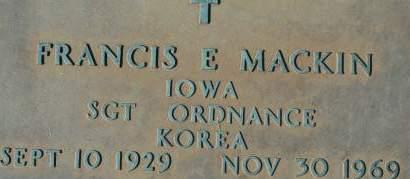 MACKIN, FRANCIS E. - Clinton County, Iowa | FRANCIS E. MACKIN