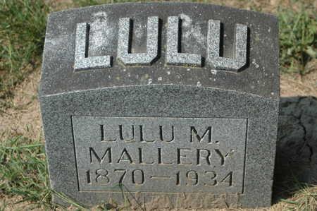 MALLARY, LULU M. - Clinton County, Iowa   LULU M. MALLARY