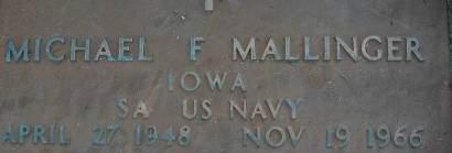 MALLINGER, MICHAEL F. - Clinton County, Iowa | MICHAEL F. MALLINGER