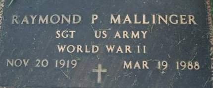 MALLINGER, RAYMOND P. - Clinton County, Iowa | RAYMOND P. MALLINGER
