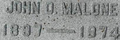 MALONE, JOHN O. - Clinton County, Iowa | JOHN O. MALONE