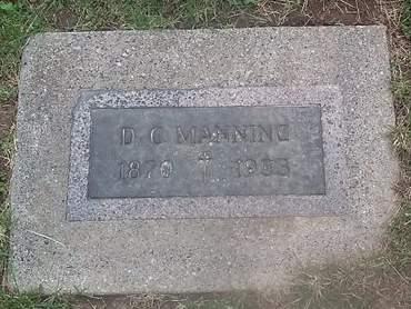 MANNING, D. C. - Clinton County, Iowa   D. C. MANNING