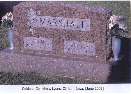 MARSHALL, WILLIAM - Clinton County, Iowa | WILLIAM MARSHALL