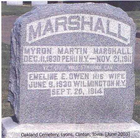 MARSHALL, EMELINE E. - Clinton County, Iowa | EMELINE E. MARSHALL