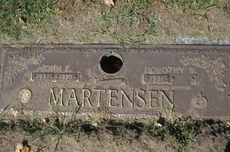 MARTENSEN, JOHN F. - Clinton County, Iowa | JOHN F. MARTENSEN