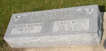 MARTIN, LOWELL WELLES - Clinton County, Iowa   LOWELL WELLES MARTIN