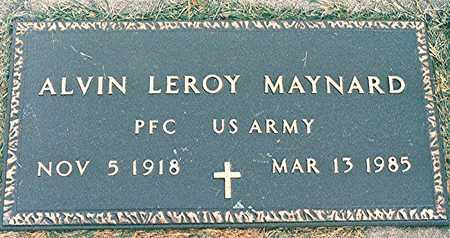 MAYNARD, ALVIN LEROY - Clinton County, Iowa | ALVIN LEROY MAYNARD