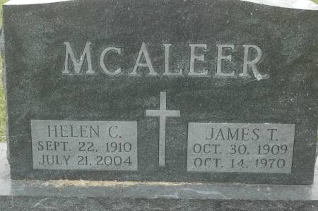 MCALEER, JAMES T. - Clinton County, Iowa | JAMES T. MCALEER
