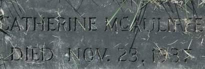 MCAULIFFE, CATHERINE - Clinton County, Iowa | CATHERINE MCAULIFFE